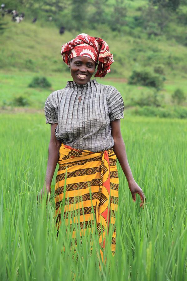 Eugenie Nyirabagenzi-rice farmer-Rwanda